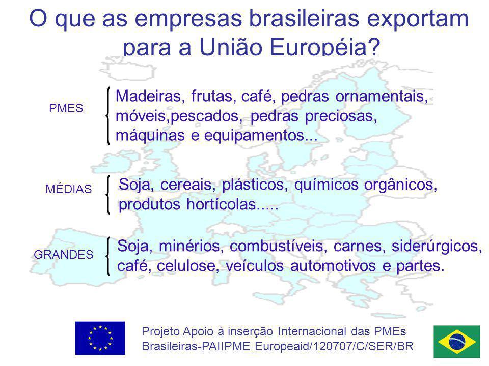 O que as empresas brasileiras exportam