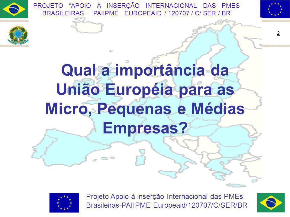 Qual a importância da União Européia para as Micro, Pequenas e Médias Empresas