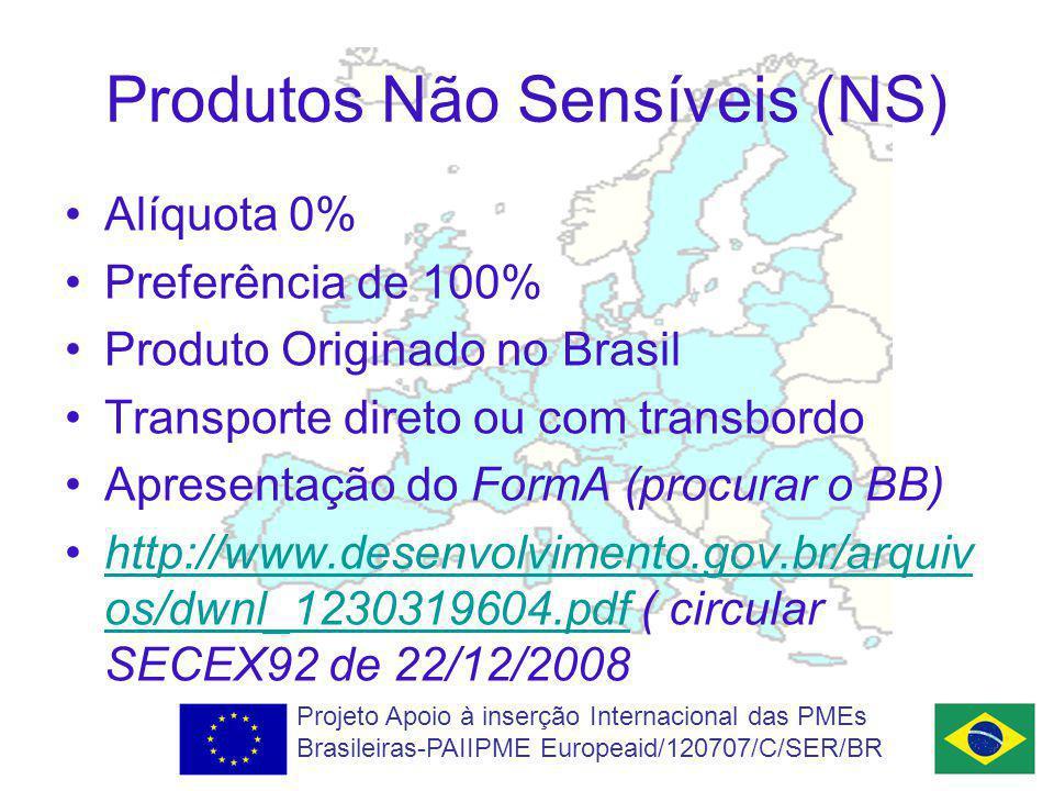 Produtos Não Sensíveis (NS)