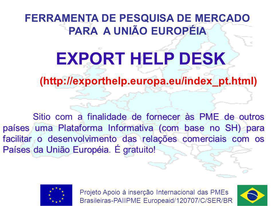 FERRAMENTA DE PESQUISA DE MERCADO PARA A UNIÃO EUROPÉIA
