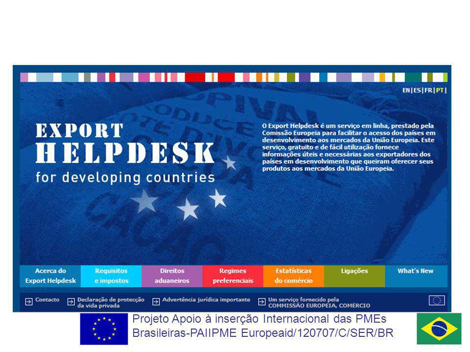 Projeto Apoio à inserção Internacional das PMEs