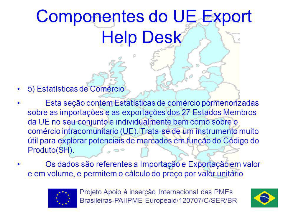 Componentes do UE Export Help Desk