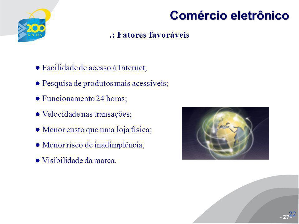Comércio eletrônico .: Fatores favoráveis