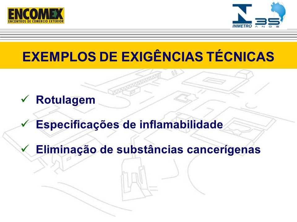 EXEMPLOS DE EXIGÊNCIAS TÉCNICAS