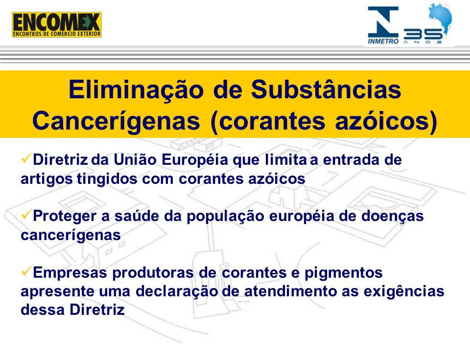Eliminação de Substâncias Cancerígenas (corantes azóicos)