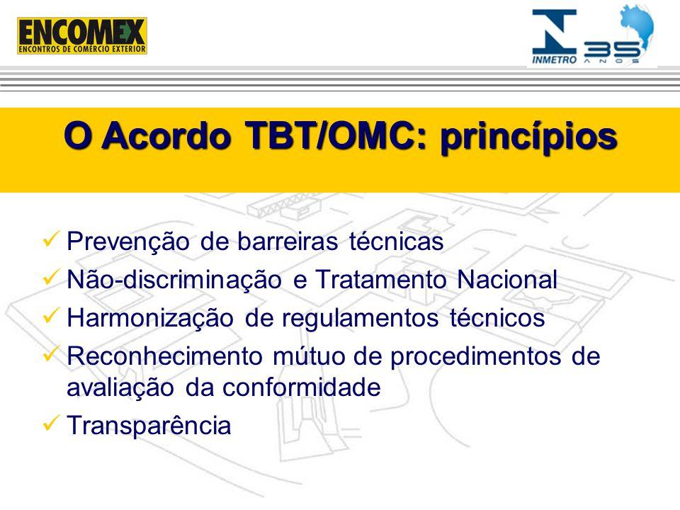 O Acordo TBT/OMC: princípios
