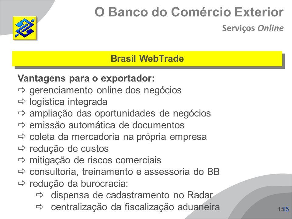 O Banco do Comércio Exterior