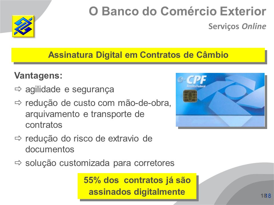 O Banco do Comércio Exterior