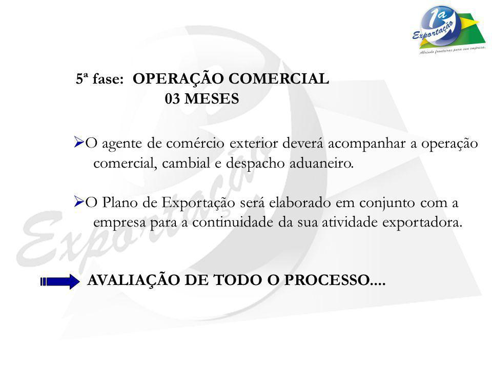 5ª fase: OPERAÇÃO COMERCIAL