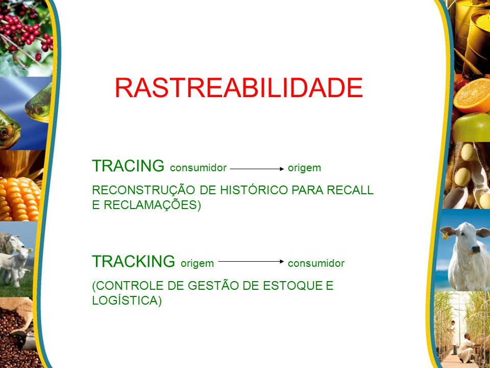 RASTREABILIDADE TRACING consumidor origem TRACKING origem consumidor