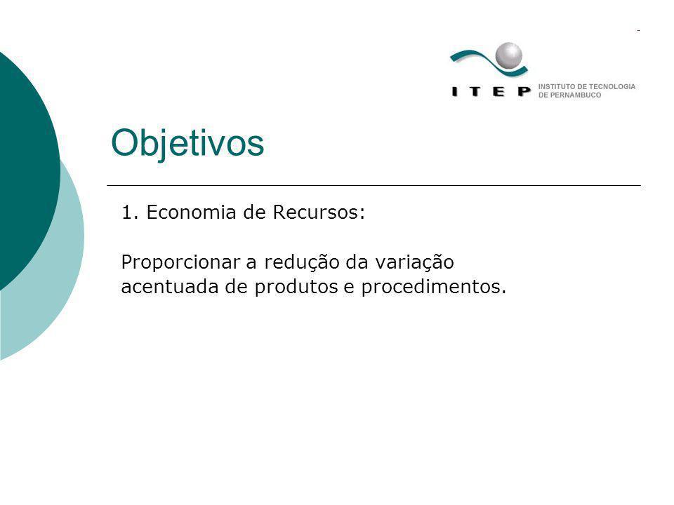 Objetivos 1. Economia de Recursos: Proporcionar a redução da variação