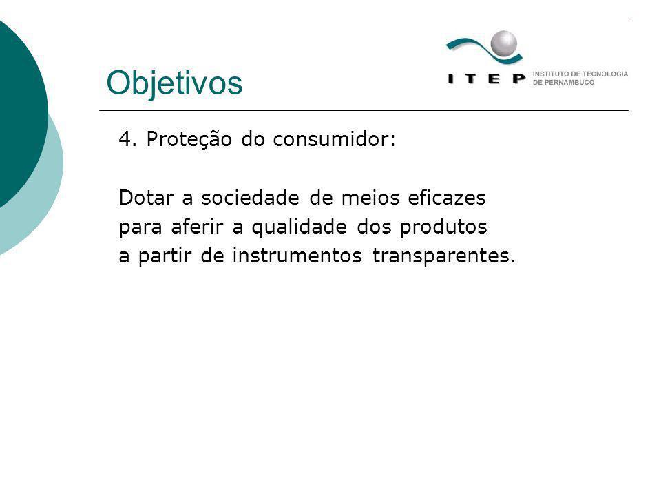 Objetivos 4. Proteção do consumidor: