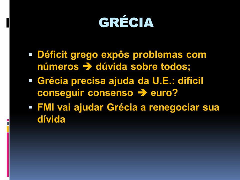 GRÉCIA Déficit grego expôs problemas com números  dúvida sobre todos;