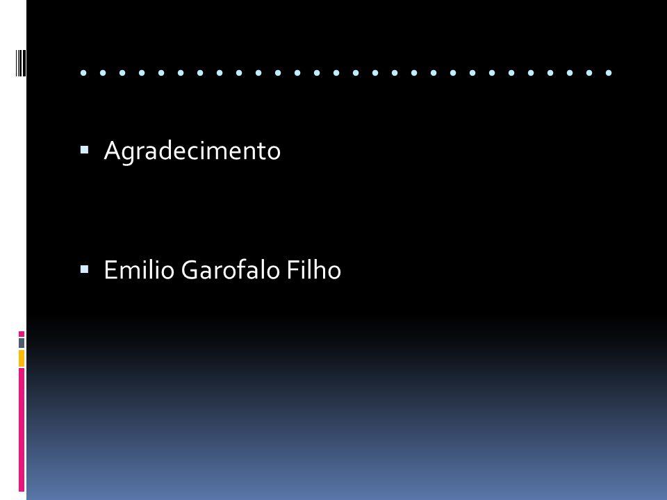 ............................ Agradecimento Emilio Garofalo Filho
