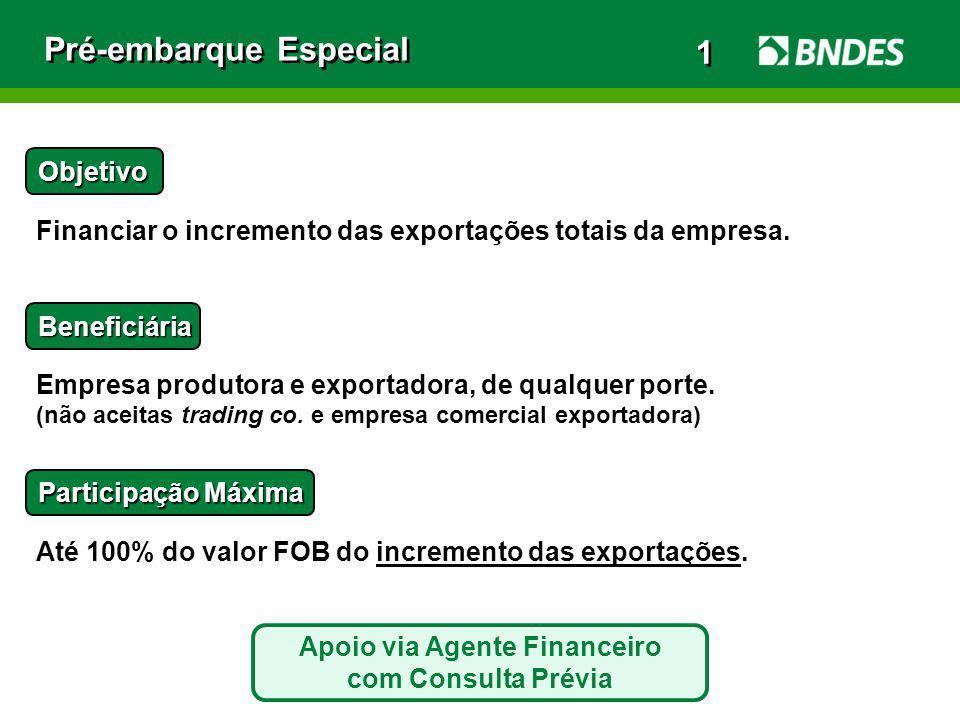 Apoio via Agente Financeiro com Consulta Prévia