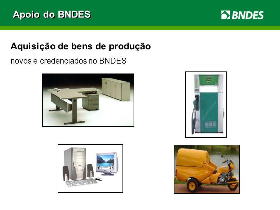 Apoio do BNDES Aquisição de bens de produção