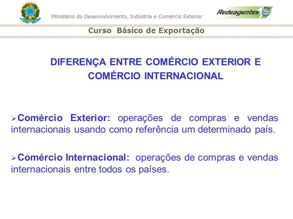 DIFERENÇA ENTRE COMÉRCIO EXTERIOR E COMÉRCIO INTERNACIONAL