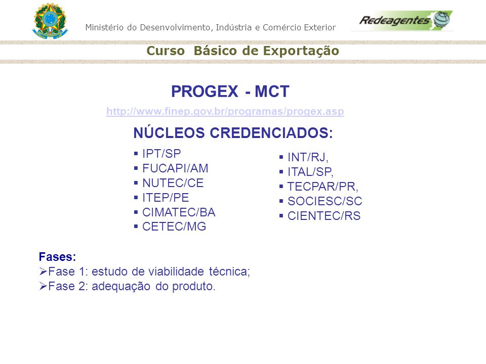 NÚCLEOS CREDENCIADOS: