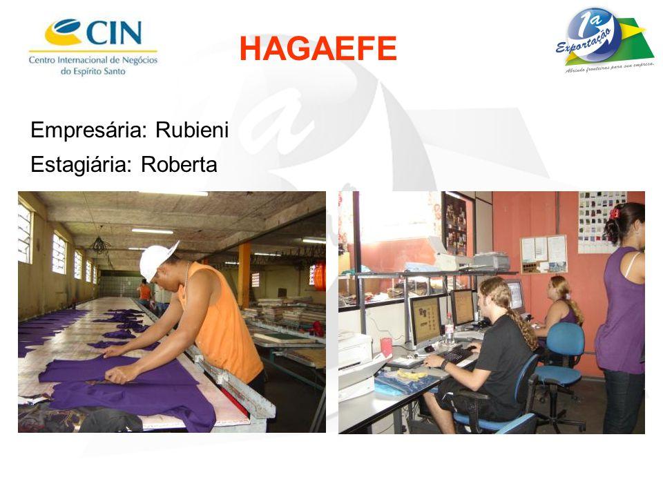 HAGAEFE Empresária: Rubieni Estagiária: Roberta