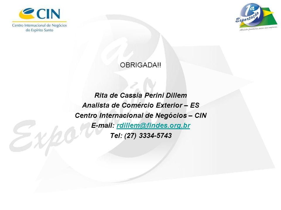 Rita de Cassia Perini Dillem Analista de Comércio Exterior – ES