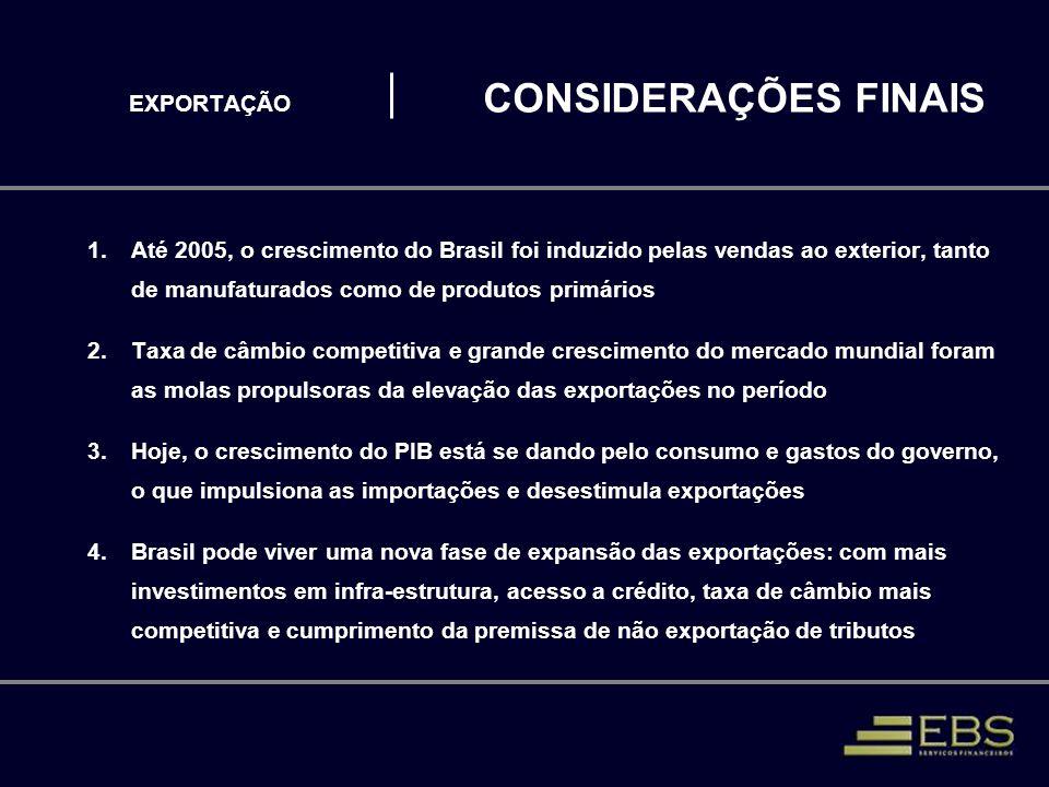 EXPORTAÇÃO CONSIDERAÇÕES FINAIS