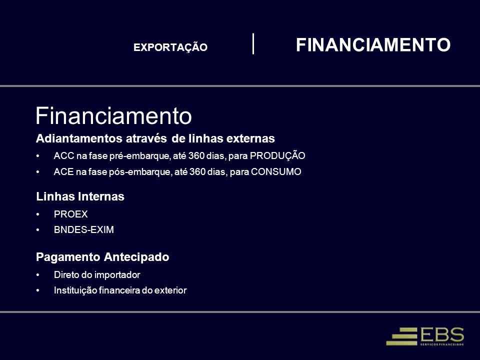 EXPORTAÇÃO FINANCIAMENTO