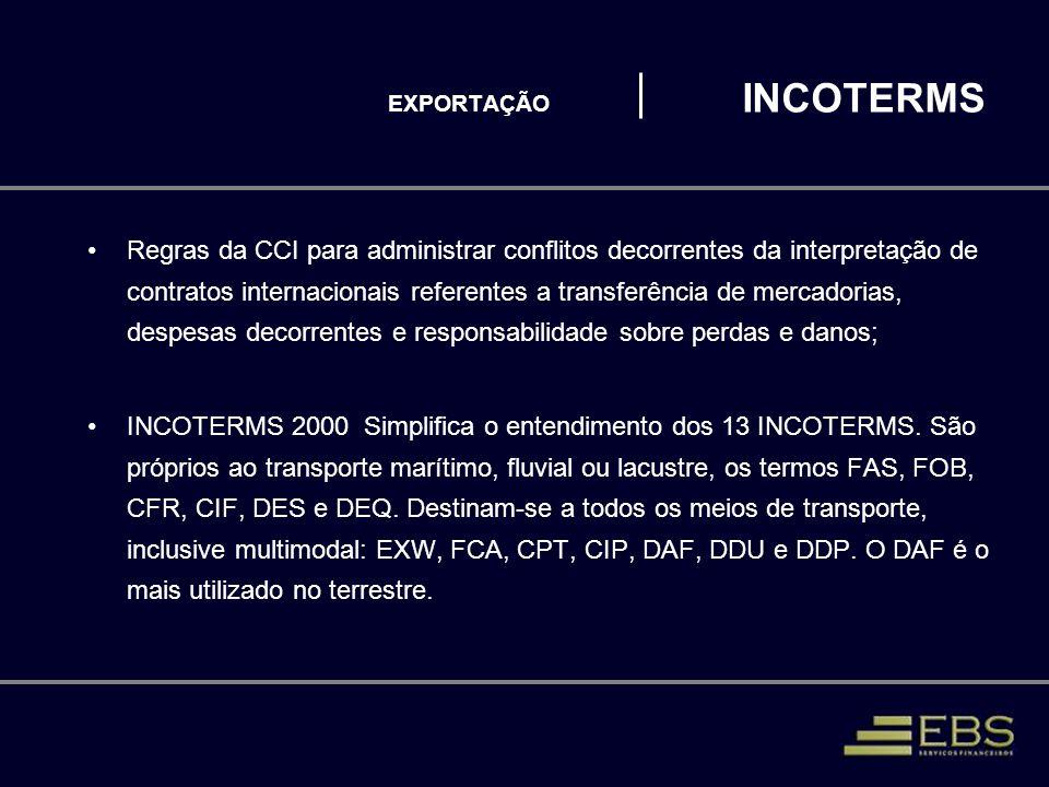EXPORTAÇÃO INCOTERMS