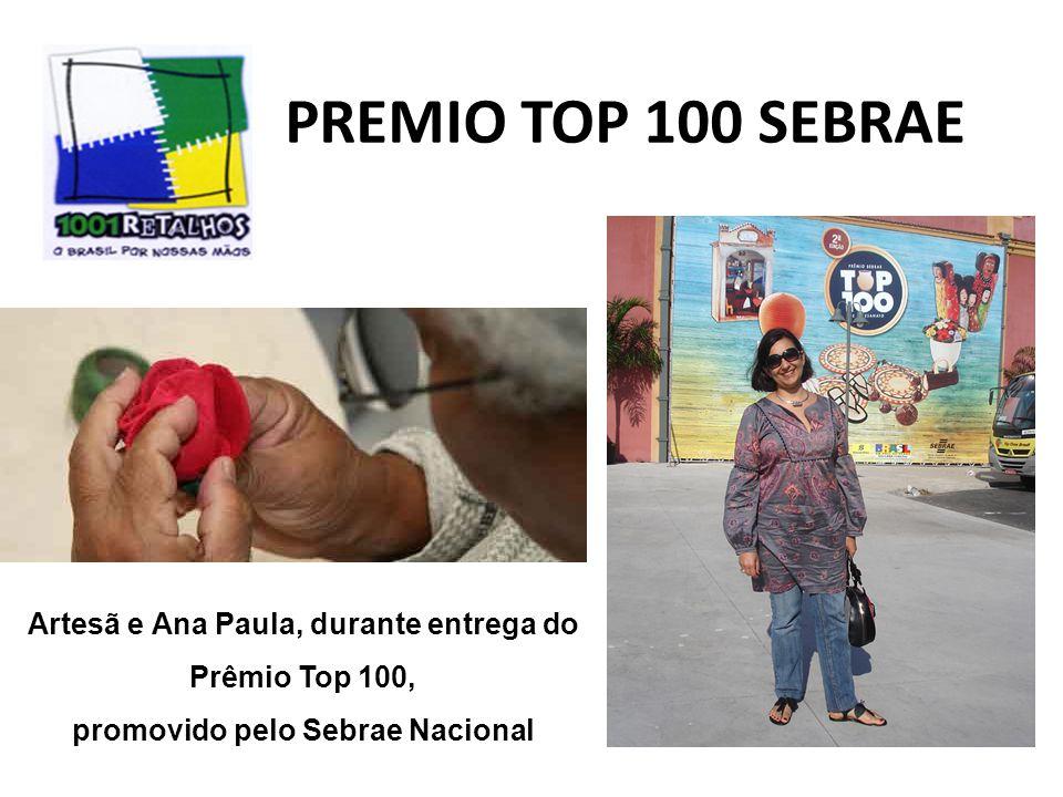 Artesã e Ana Paula, durante entrega do promovido pelo Sebrae Nacional