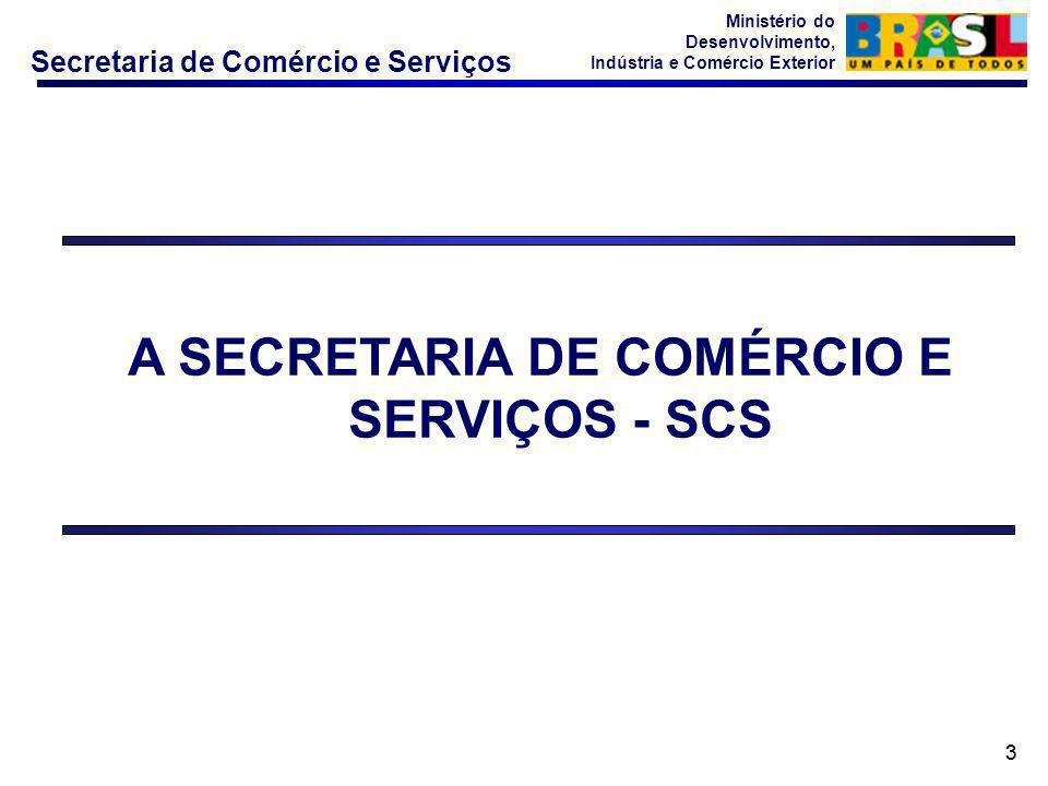 A SECRETARIA DE COMÉRCIO E SERVIÇOS - SCS