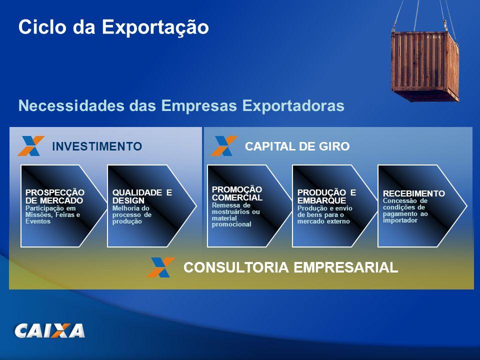 Ciclo da Exportação Necessidades das Empresas Exportadoras