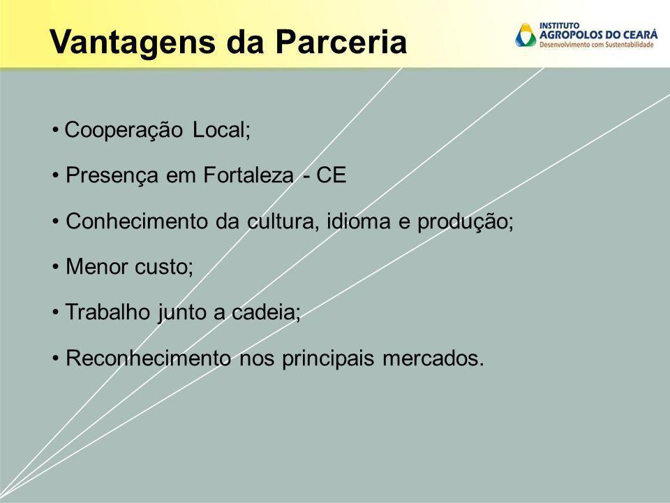 Vantagens da Parceria Cooperação Local; Presença em Fortaleza - CE