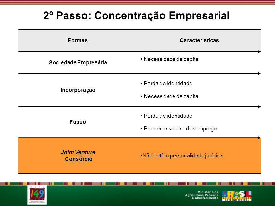 2º Passo: Concentração Empresarial