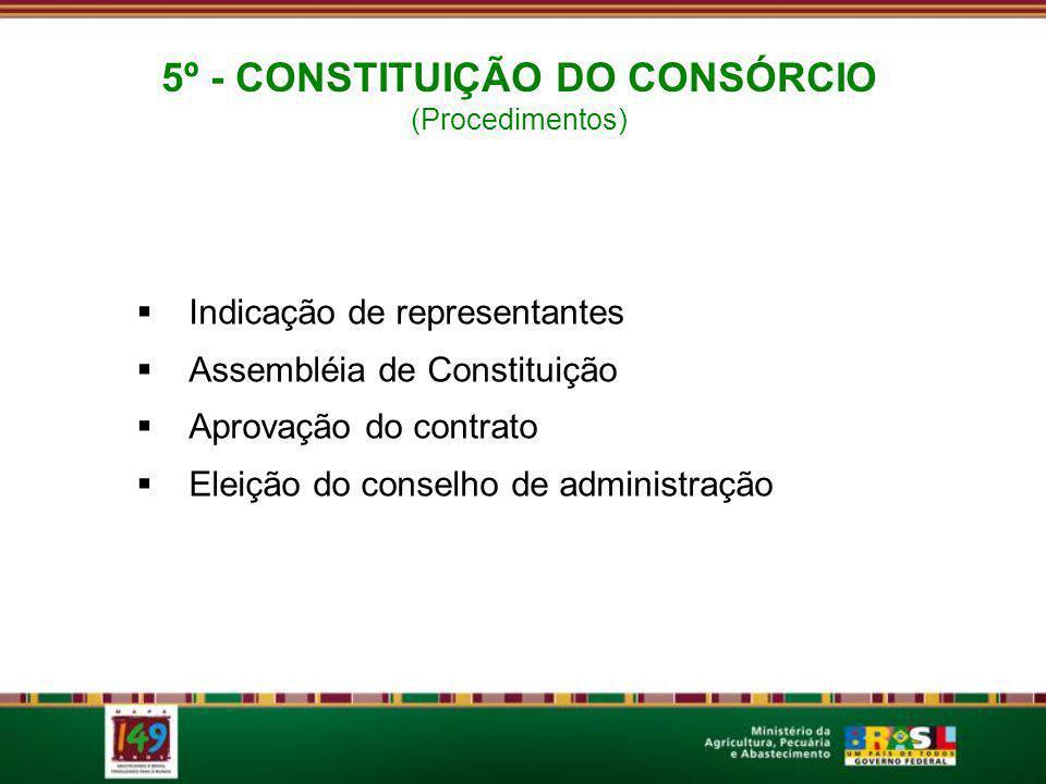 5º - CONSTITUIÇÃO DO CONSÓRCIO