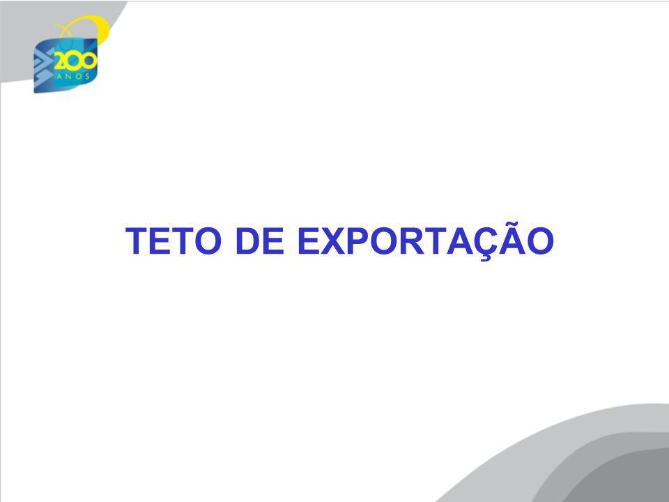 TETO DE EXPORTAÇÃO