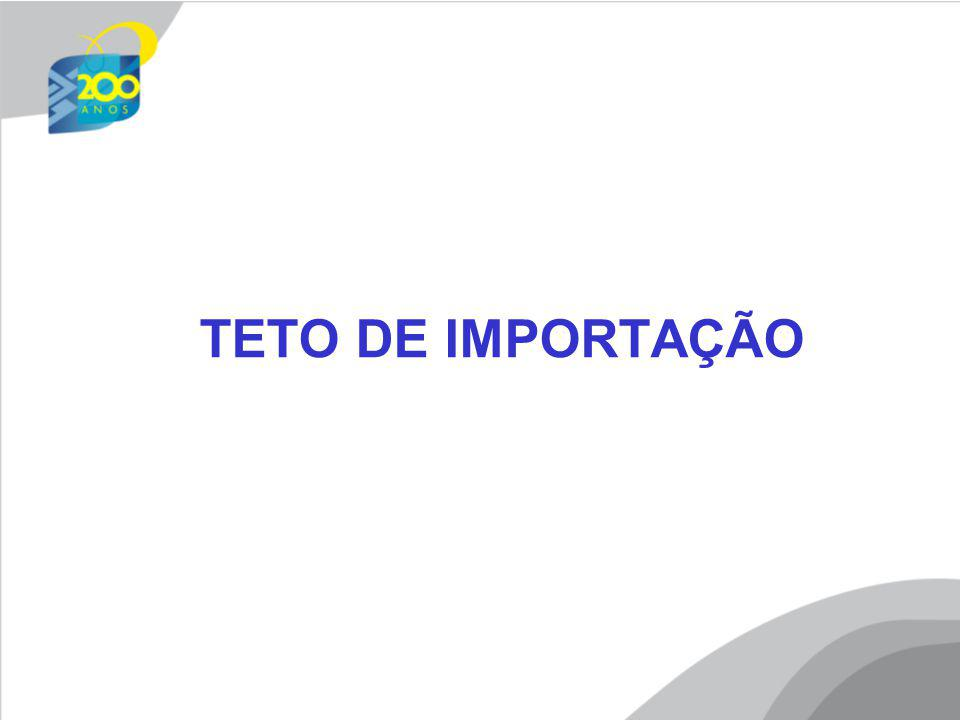 TETO DE IMPORTAÇÃO