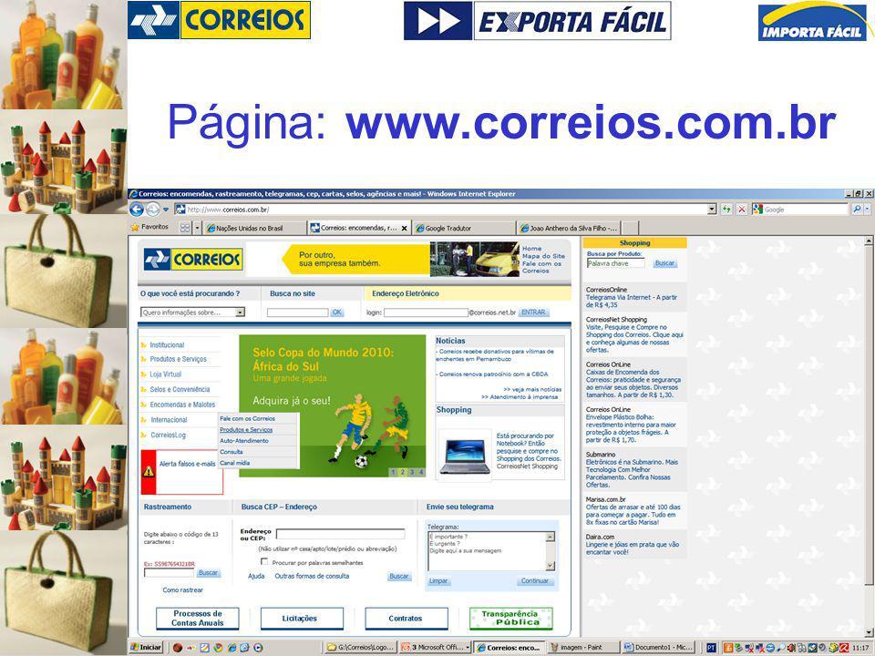 Página: www.correios.com.br