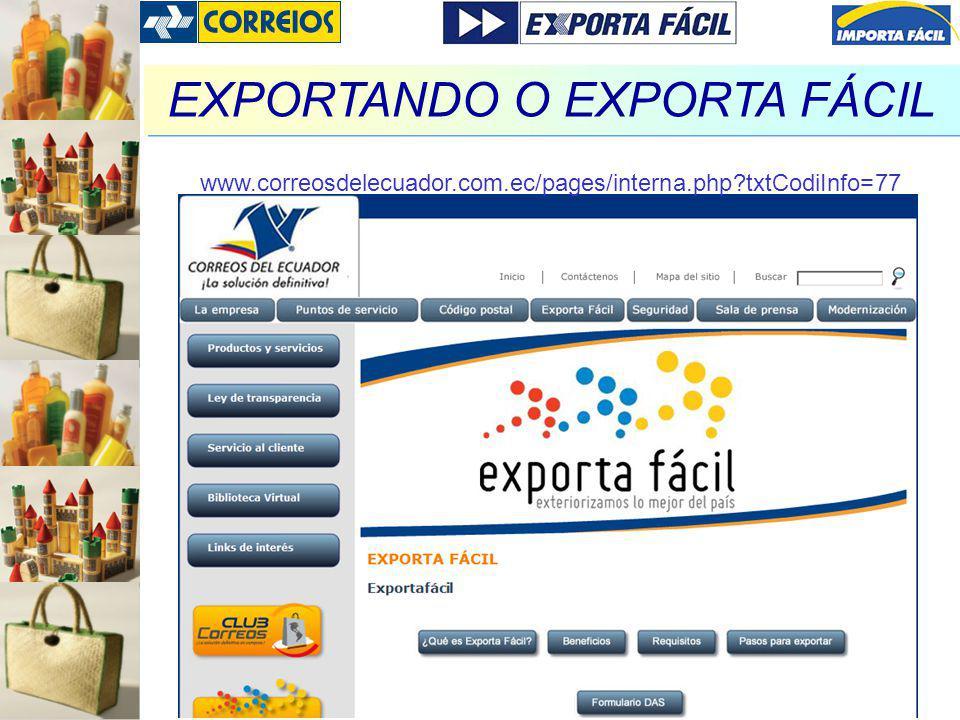 EXPORTANDO O EXPORTA FÁCIL