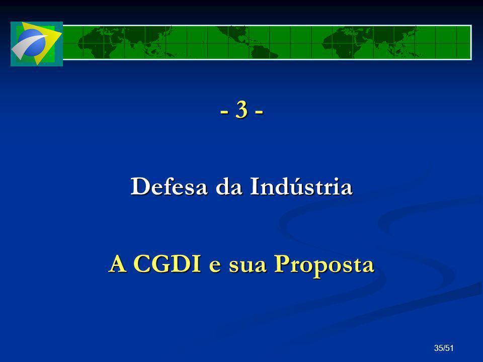 - 3 - Defesa da Indústria A CGDI e sua Proposta