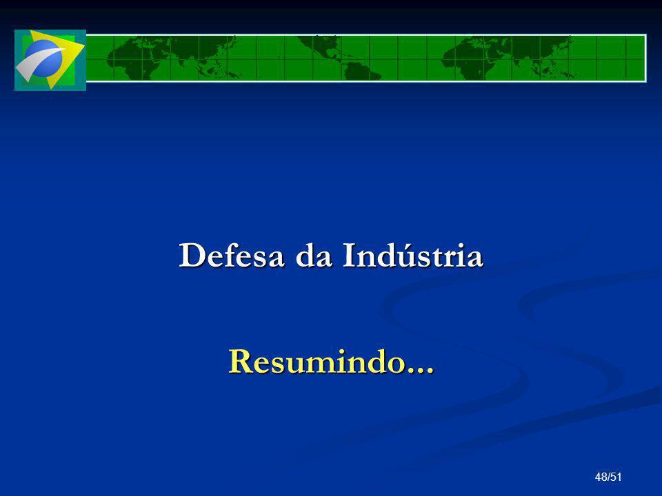 Defesa da Indústria Resumindo...