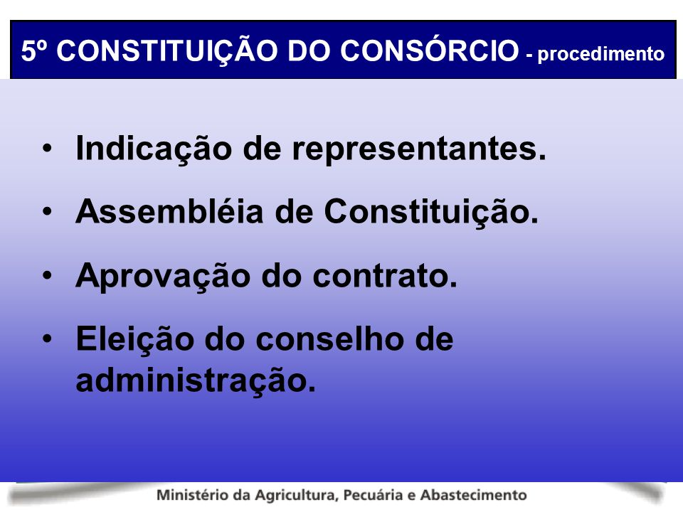 5º CONSTITUIÇÃO DO CONSÓRCIO - procedimento
