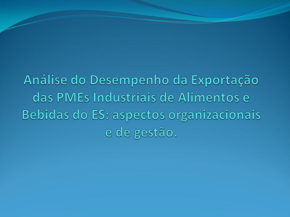 Análise do Desempenho da Exportação das PMEs Industriais de Alimentos e Bebidas do ES: aspectos organizacionais e de gestão.