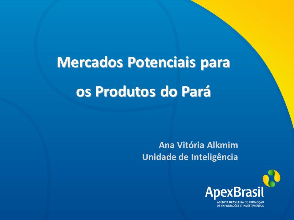 Mercados Potenciais para os Produtos do Pará Título da apresentação