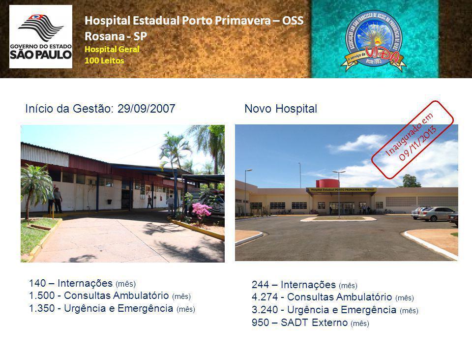 Hospital Estadual Porto Primavera – OSS Rosana - SP Hospital Geral