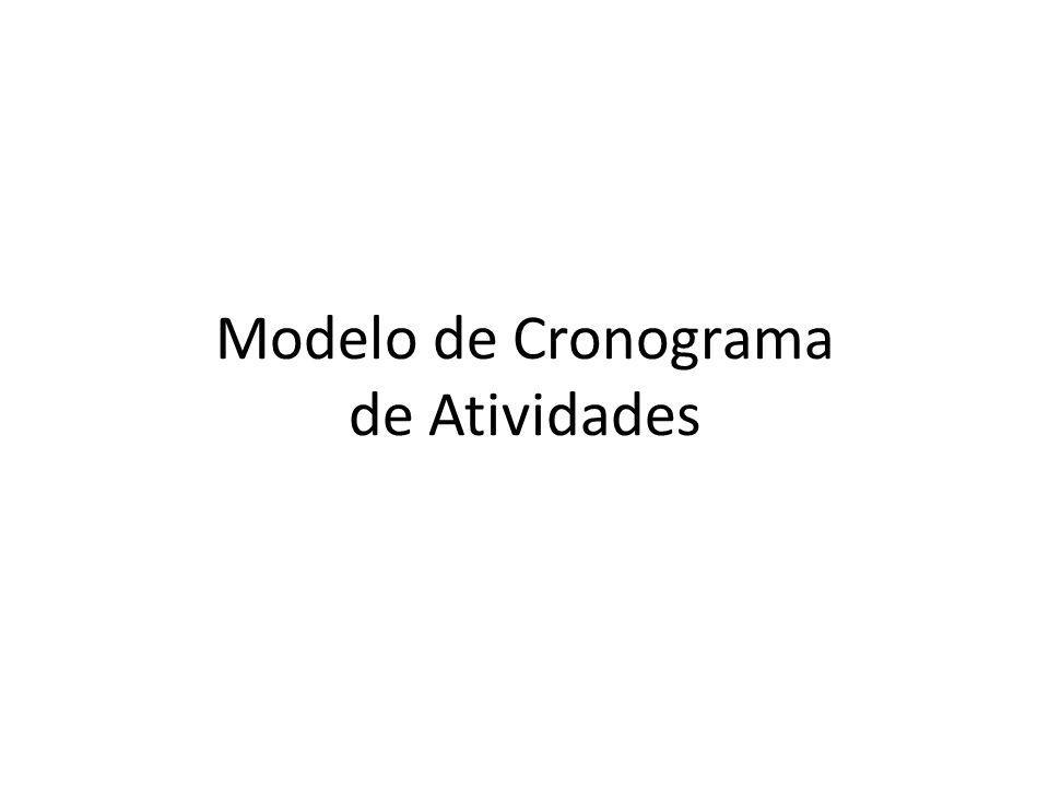 Modelo de Cronograma de Atividades
