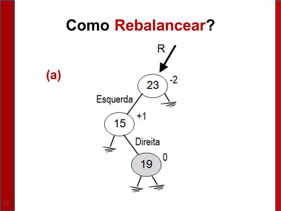 Como Rebalancear (a)