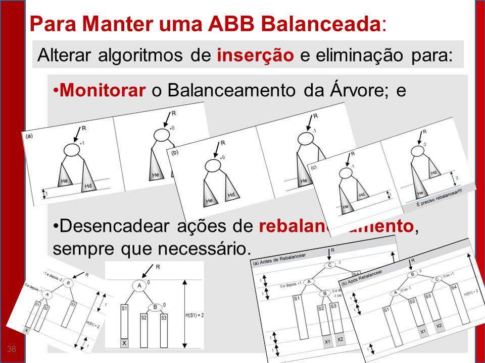 Para Manter uma ABB Balanceada: