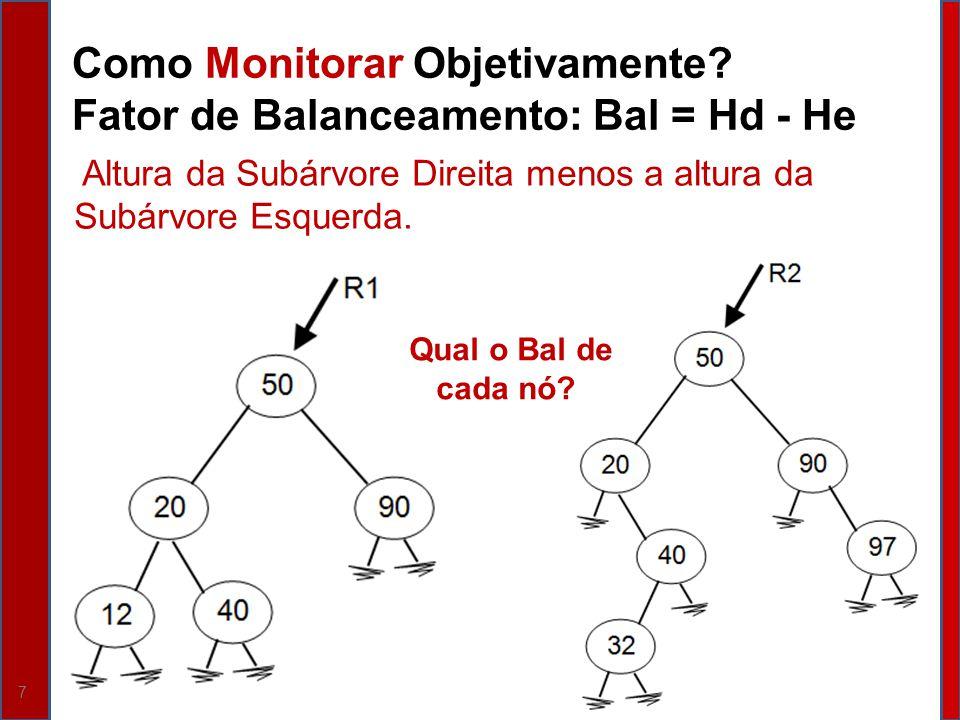 Como Monitorar Objetivamente Fator de Balanceamento: Bal = Hd - He