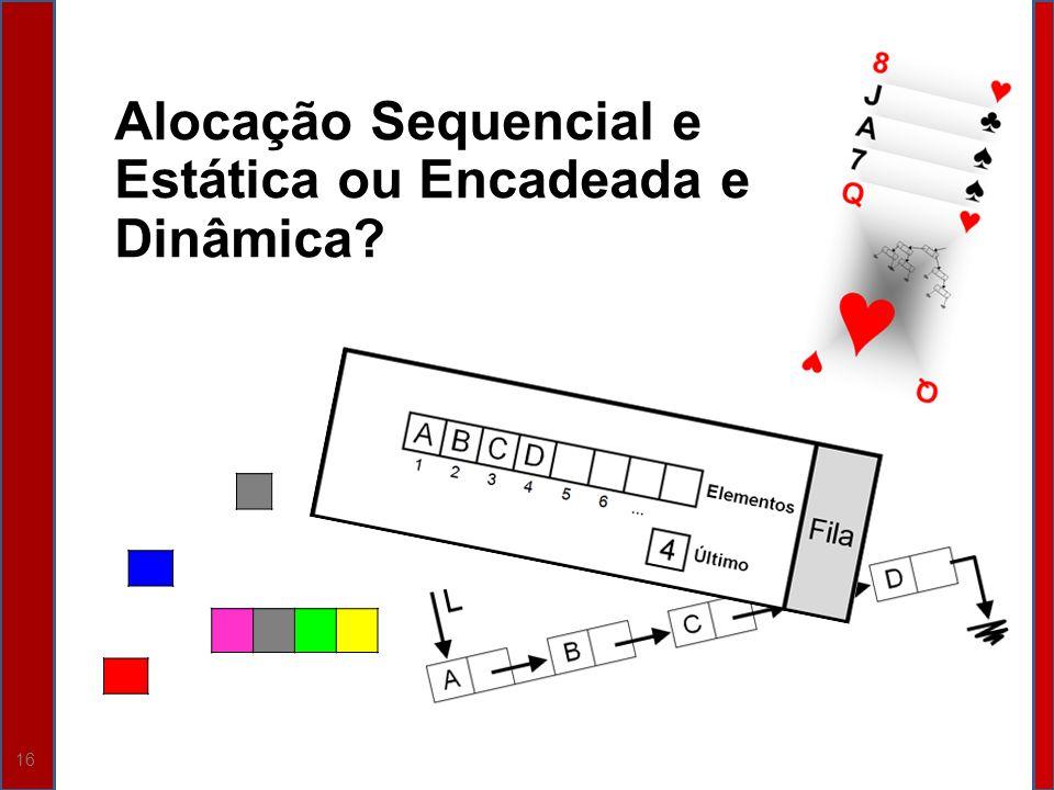 Alocação Sequencial e Estática ou Encadeada e Dinâmica
