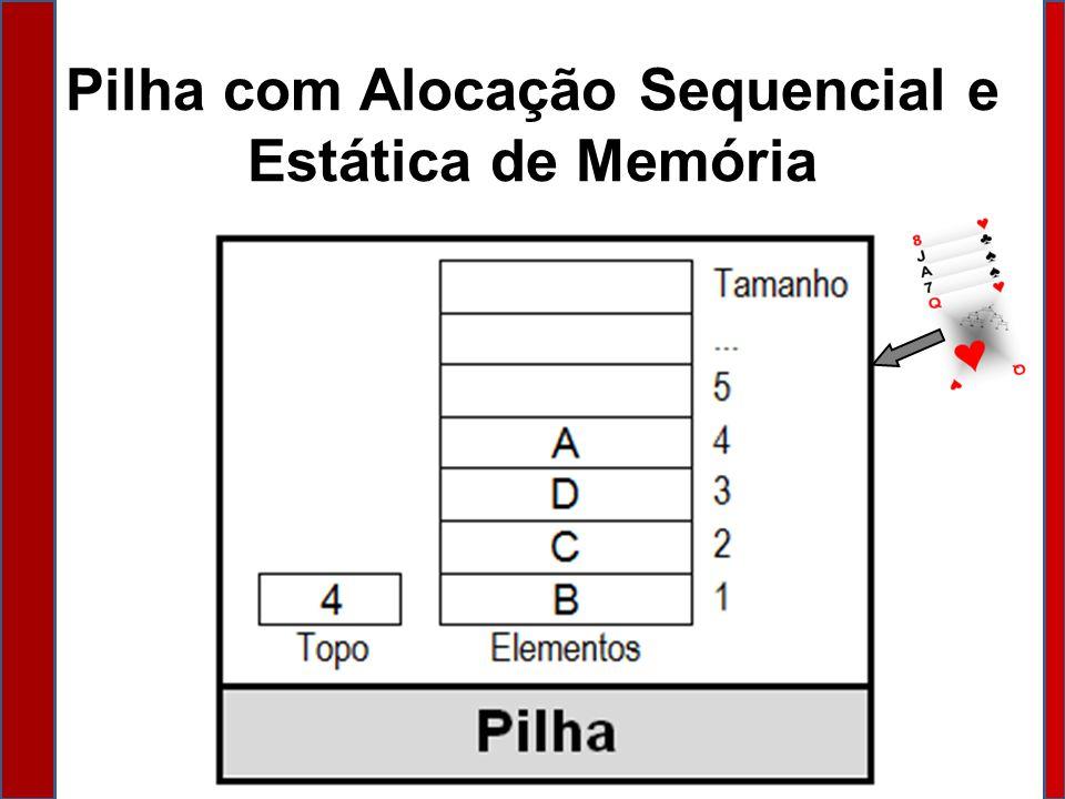 Pilha com Alocação Sequencial e Estática de Memória