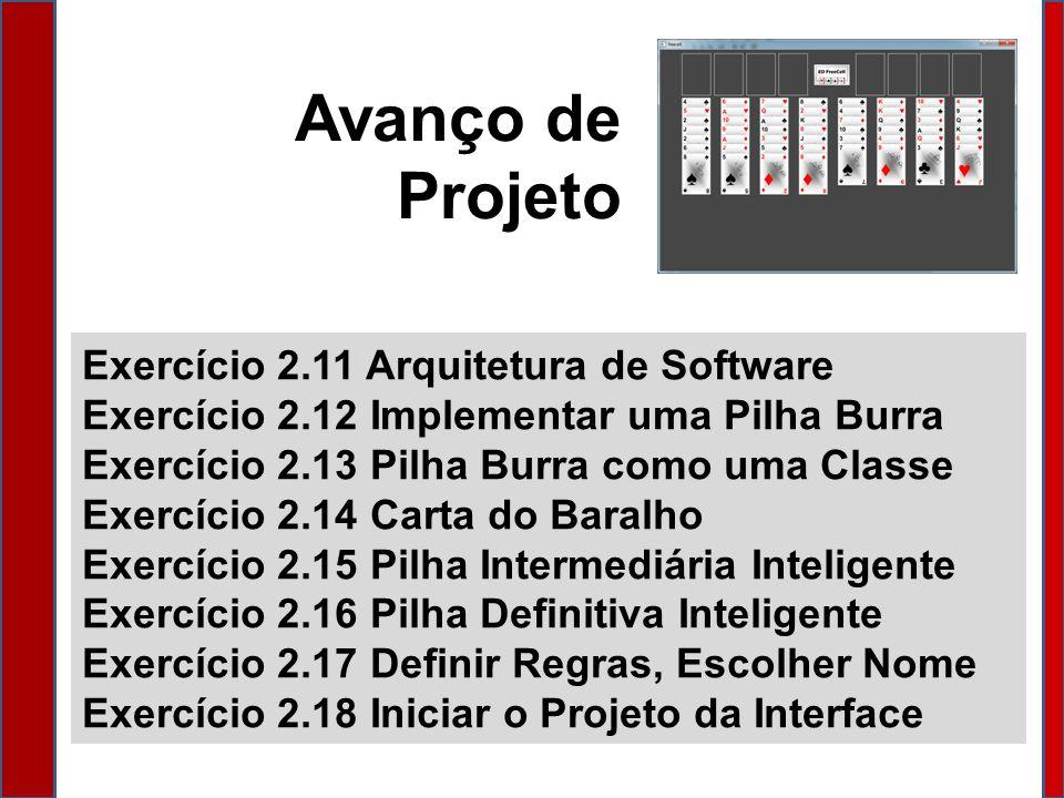 Avanço de Projeto Exercício 2.11 Arquitetura de Software